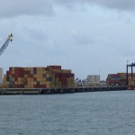 Containers unloaded