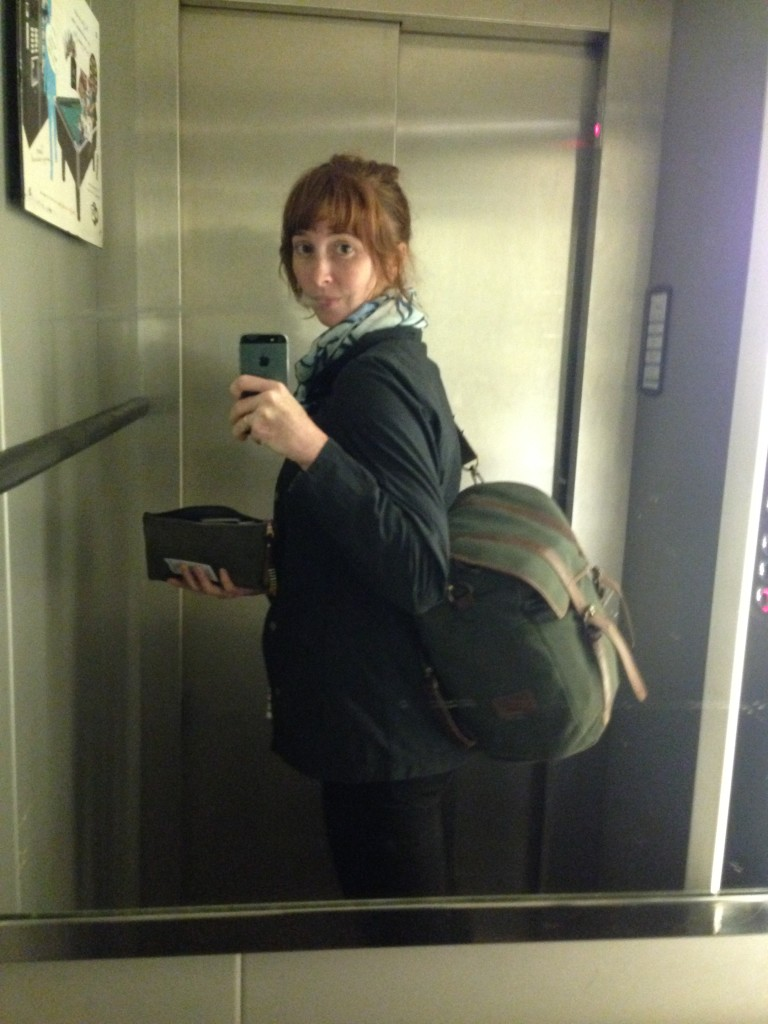 Me and my luggage